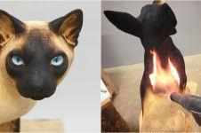 Cuma pakai api, 10 potret patung hewan ini detailnya sangat nyata