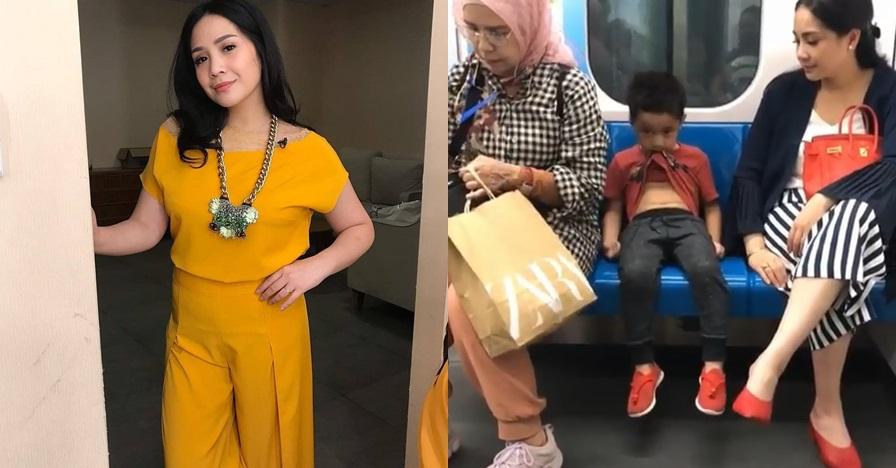 Bepergian naik MRT, tas mewah Nagita Slavina jadi sorotan
