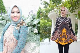 15 Inspirasi padu padan batik dengan hijab, simpel dan elegan