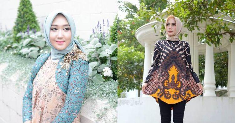 15 Inspirasi Padu Padan Batik Dengan Hijab Simpel Dan Elegan