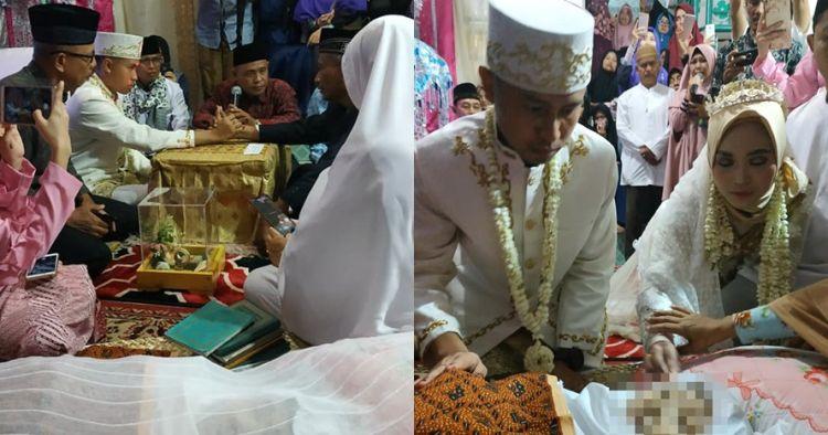 Kisah pengantin ijab kabul di samping jenazah ibunya, bikin mewek