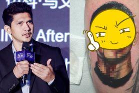 Cewek bule ini bikin tato wajah Iko Uwais di lengannya, epik