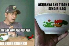 8 Meme lucu mangkuk ayam legendaris ini kocak
