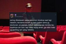 Sering diremehkan saat bekerja, curhat pelayan bioskop ini viral