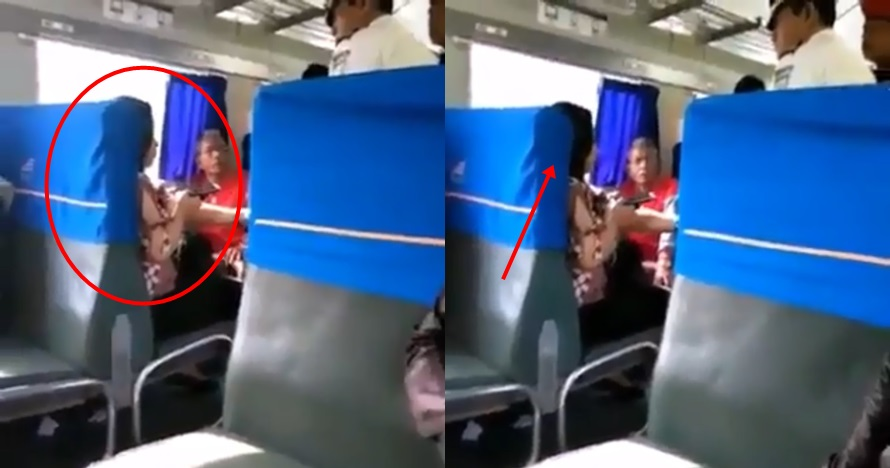 Tiket keretanya diragukan, penumpang ini ngamuk ke petugas