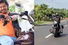 Ngaku mirip Dilan, ini 7 foto Dodit Mulyanto hobi naik moge