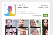Cara download aplikasi FaceApp dan tips menggunakannya