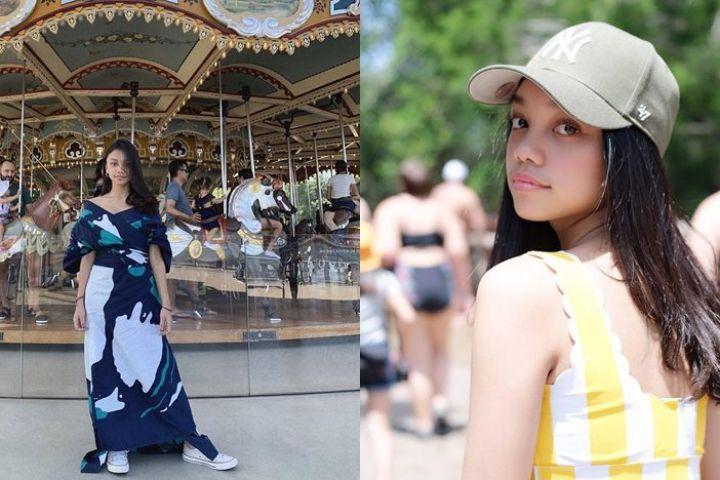 Intip 7 outfit kasual Naura, putri Nola B3 yang cantik & stylish