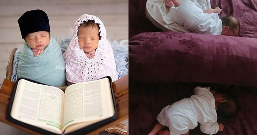 Konsep pemotretan bayi kembar 7 seleb, ada bergaya kerajaan