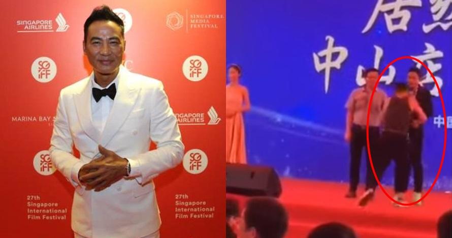 Aktor senior Hong Kong, Simon Yam ditusuk di atas panggung