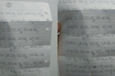 Viral surat ucapan ultah pakai aksara Jawa, isinya romantis abis