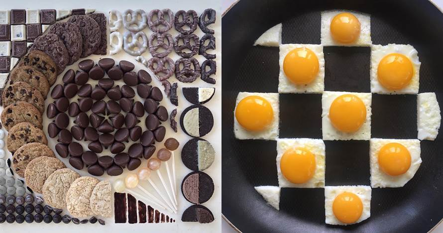 20 Karya seni geometri menyusun makanan ini presisi banget