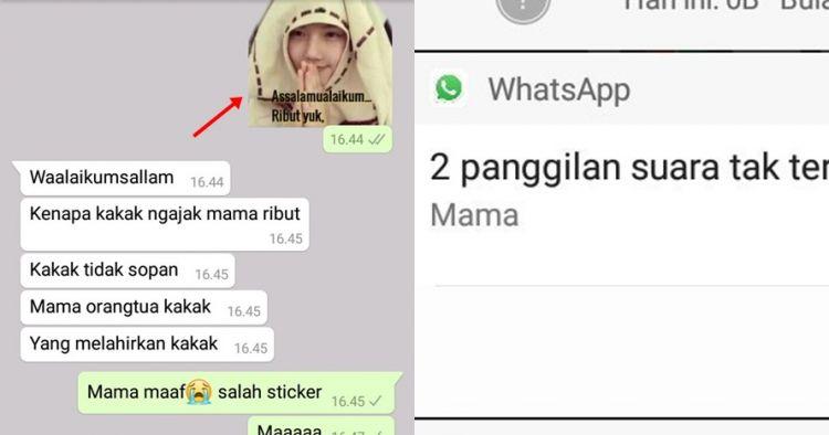 Gara-gara salah kirim stiker WhatsApp, cewek ini bikin geger ortu