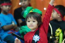 11 Momen keseruan ulang tahun El Barack, bertema ninja