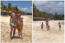 Betapa gembira bocah ini diajak main bola Messi pas liburan