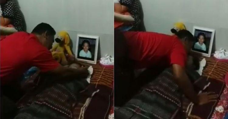 Seorang TNI menangis di jenazah anaknya, kisahnya bikin terenyuh