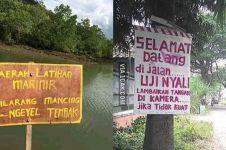 10 Papan peringatan di tempat berbahaya ini endingnya kocak