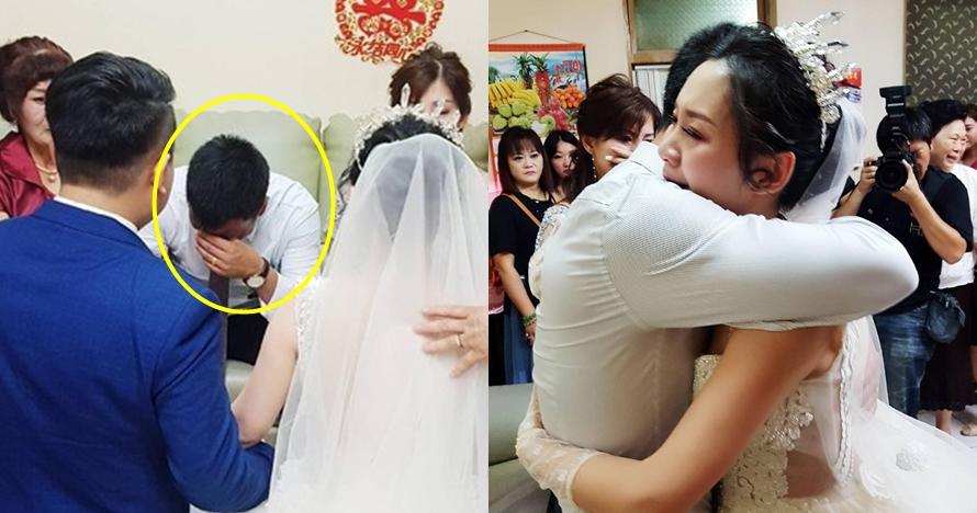 Kisah haru ayah menangis tak izinkan anak pergi saat menikah