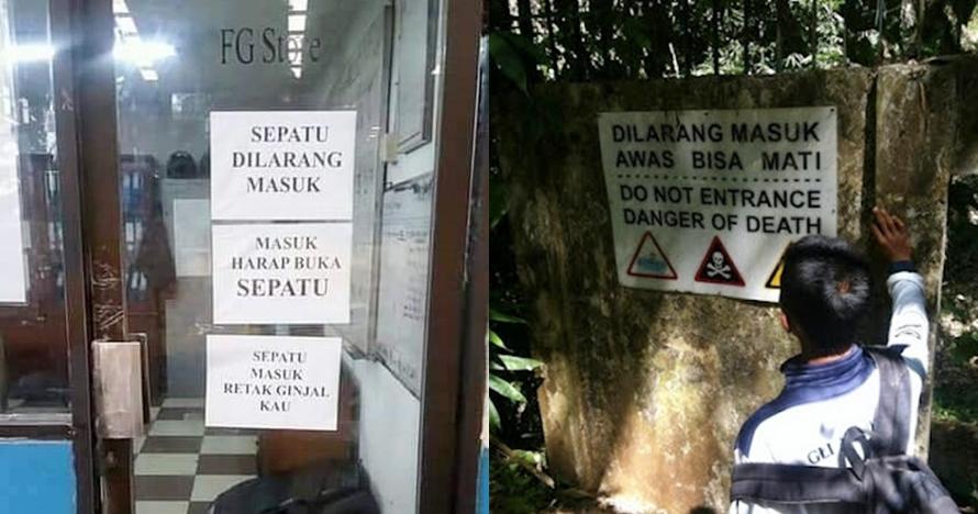 10 Peringatan dilarang masuk ini ending-nya bikin ketawa ngegas