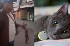 Aksi pria makan kucing hidup-hidup dikecam para pecinta hewan