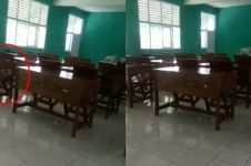 Viral kursi di laboratorium sekolah goyang sendiri, bikin bergidik