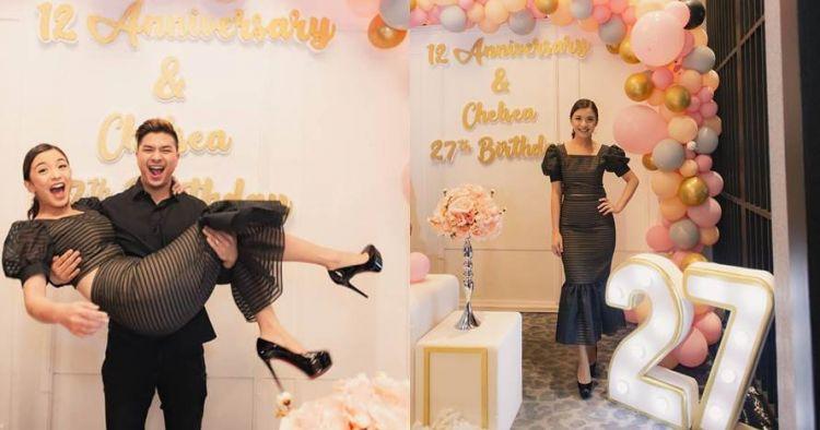 10 Momen ulang tahun Chelsea Olivia, bertepatan anniversary ke-12