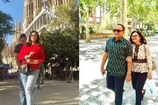7 Momen Bella Saphira & suami liburan di Barcelona, sweet abis