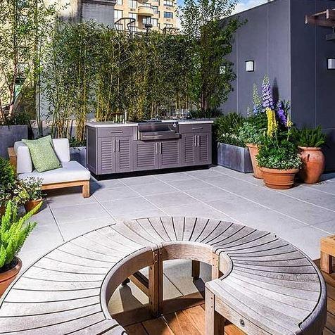Desain rooftop garden minimalis  istimewa