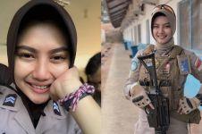 8 Pesona Briptu Imah, polwan berhijab pasukan perdamaian PBB