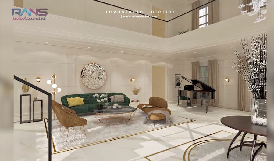desain detail rumah baru Raffi  © 2019 brilio.net