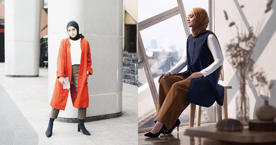 15 Gaya outfit ala Ayudia Bing Slamet, feminin minimalis
