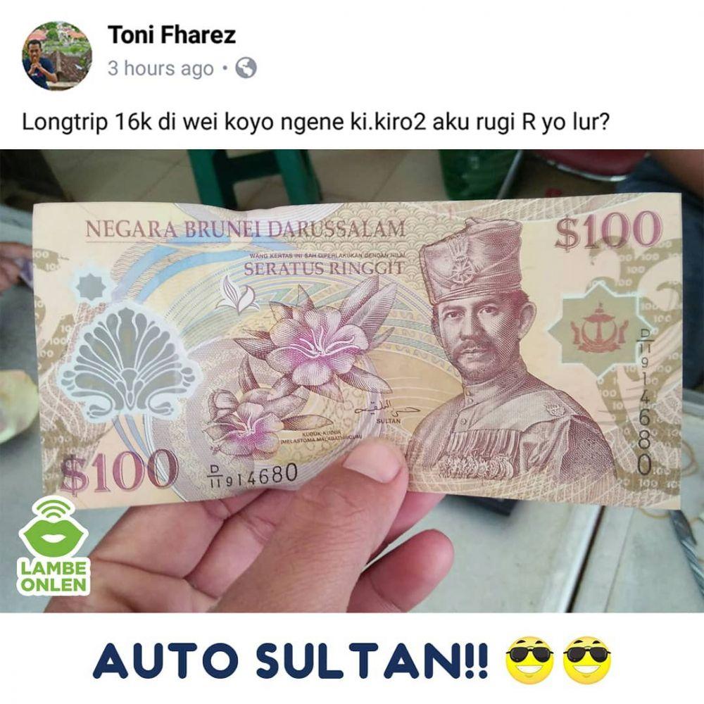curhatan driver ojol mata uang asing © berbagai sumber