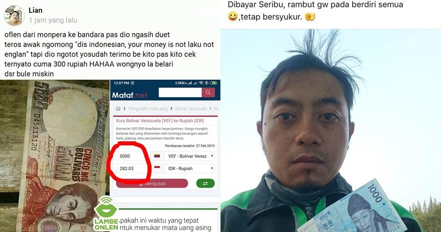7 Curhat driver ojek online dibayar mata uang asing