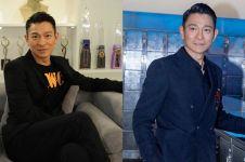 Tutupi wajah pakai masker, Andy Lau ketahuan naik pesawat ekonomi