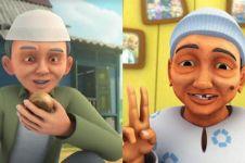 Potret masa kecil 7 tokoh Upin Ipin, Opah manglingi banget