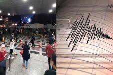 Banten di guncang gempa 7,4 SR, ini 5 momen situasi panik warga