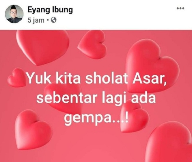 Viral di Twitter, Eyang Ibung peramal gempa Banten
