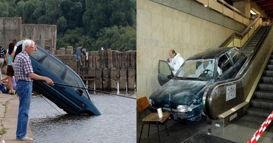 12 Potret kondisi mobil usai kecelakaan ini bikin geleng kepala