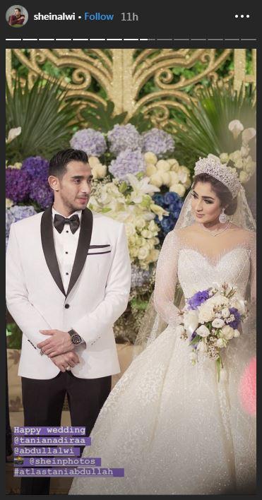 Momen resepsi pernikahan Tania Nadira  © 2019 brilio.net