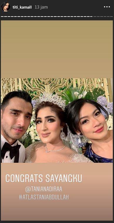 hadiri resepsi Tania © 2019 Instagram