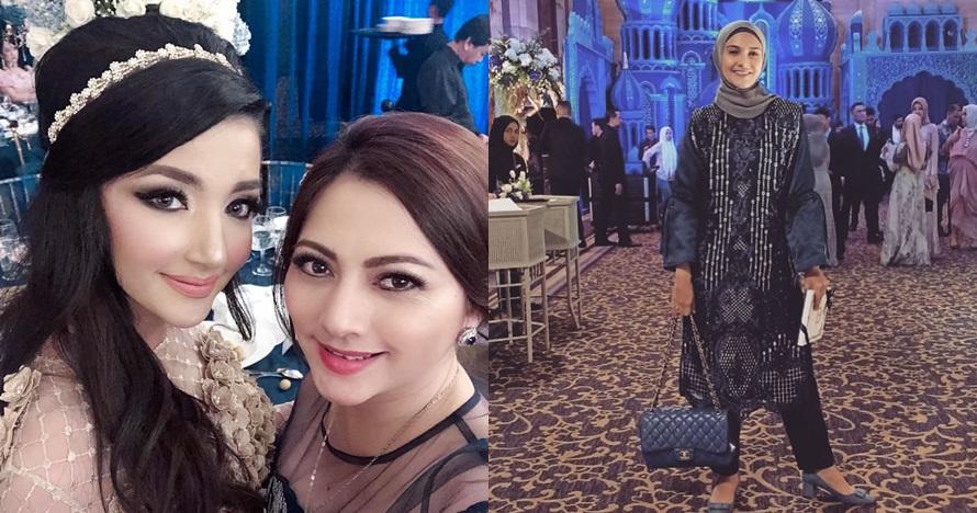 Gaya 14 seleb hadiri resepsi Tania Nadira & Abdulla Alwi, glamor