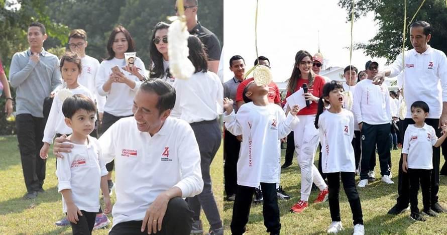 7 Momen Jan Ethes lomba makan kerupuk, didampingi Jokowi