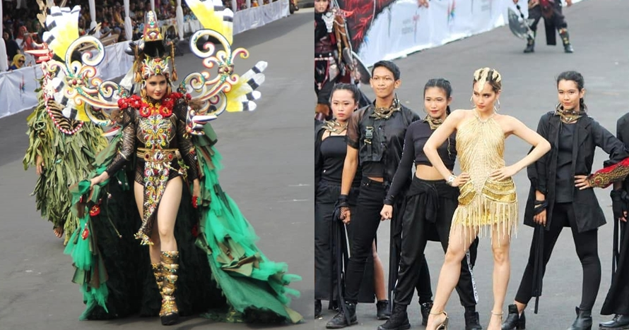 10 Momen Cinta Laura tampil di Jember Fashion Carnaval, memesona