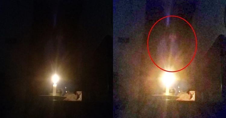 Viral foto penampakan kuntilanak saat mati lampu, awas merinding!