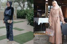 12 Inspirasi outfit jumpsuit untuk hijaber, stylish dan kekinian