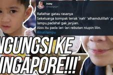 Rafathar ngungsi ke Singapura, 10 reaksi warganet ini kocak abis
