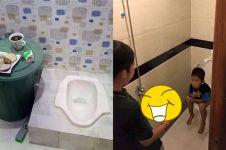 9 Kelakuan lucu orang di kamar mandi ini bikin nggak habis pikir