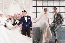 7 Seleb kenakan baju bak pengantin sungguhan saat foto prewedding