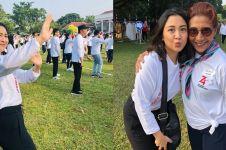 9 Potret Sherina Munaf ikut family gathering, senam bareng Jokowi