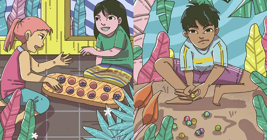 10 Ilustrasi permainan anak bikin ingat indahnya masa kecil